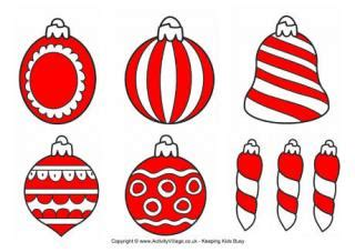 christmas decorations pictures to print bauble decorations printable