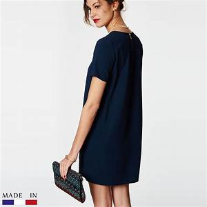 brandalley la collection odile robe courte bleu With robe courte bleu marine