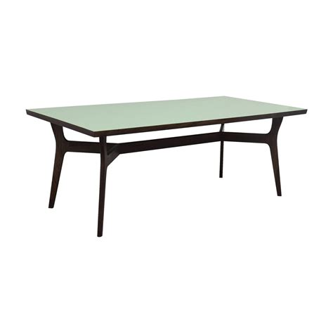 second hand table ls 90 off wood and teal dining table tables