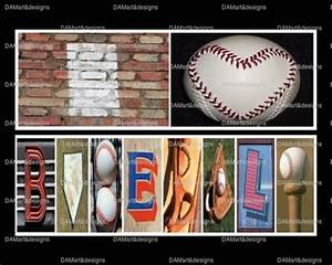 i love baseball framed alphabet photo art With baseball letter art