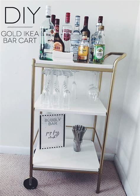 fancy bar cart ikea    decorate