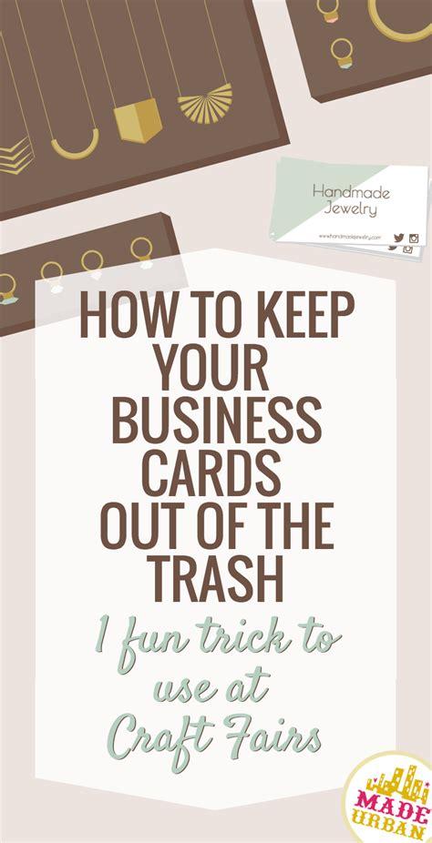 business cards    trash craft