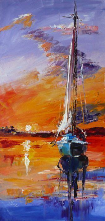 Sailboat Oil Painting by Sailboat Paintings Impressionism Canvas Oil Boat Marine