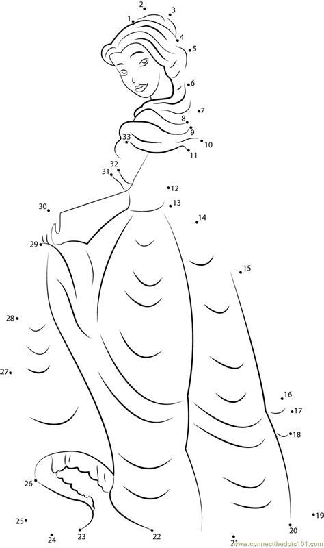 cute princess aurora dot  dot printable worksheet