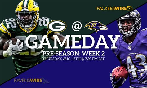 packers  ravens time tv schedule