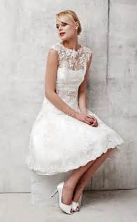 brautkleid kurz standesamt a line lace wedding dress with sleeves sang maestro