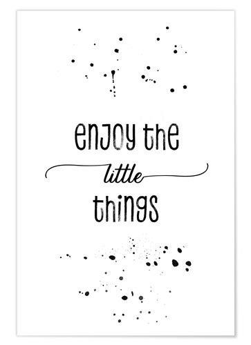 Melanie Viola TEXT ART Enjoy the little things Poster
