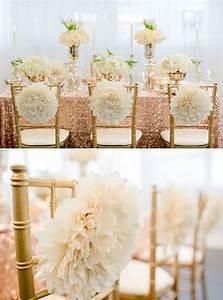Rose Gold Decor : wedding chair decoration ideas archives weddings romantique ~ Teatrodelosmanantiales.com Idées de Décoration