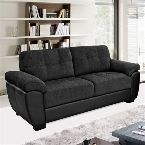fabric sofas and sectionals newport black fabric leather match sofa collection