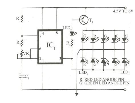 bicolour led flasher circuit electronics project