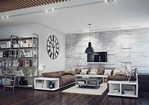Industrial Style Living Room Interior Design Ideas - DMA