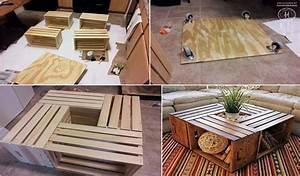 Caisse Bois Deco : id es de d co avec des caisses en bois ~ Teatrodelosmanantiales.com Idées de Décoration