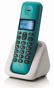 Combiné Téléphone Fixe : telephone fixe sans fil t301 turquoise dect design noriak ~ Medecine-chirurgie-esthetiques.com Avis de Voitures