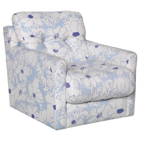 blue and white floral upholstered arm chair at 1stdibs