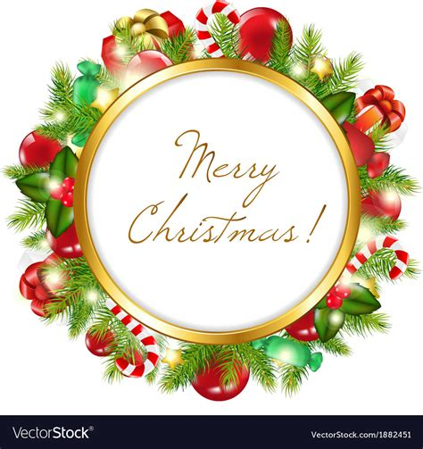 merry christmas frame royalty free vector image