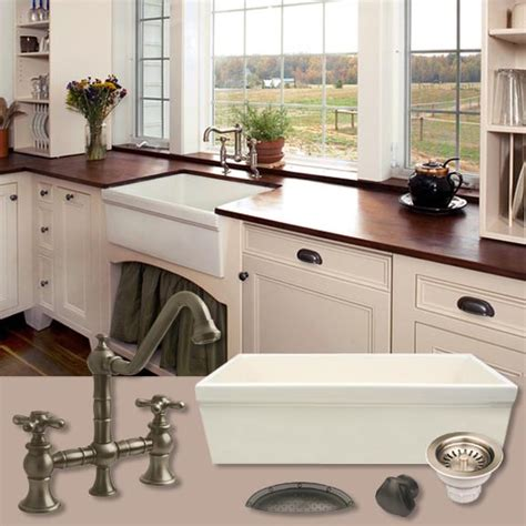 Whitehaus Farmhouse Kitchen Sink by Whitehaus Whq530 Quatro 30 Inch Alcove Reversible Fireclay