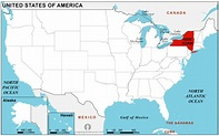 New York map location - TravelsFinders.Com