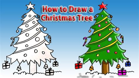 how to draw christmas tree how to draw tree simple drawing tutorial for beginners easy drawing