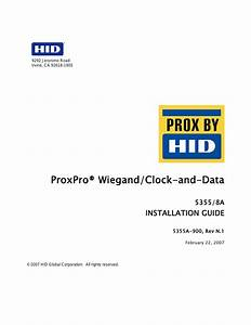 Hid Proxpro Installation Guide User Manual