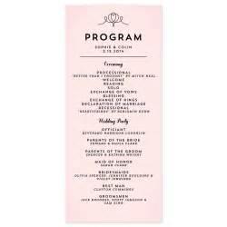 wording for wedding programs modern deco program crafty pie press