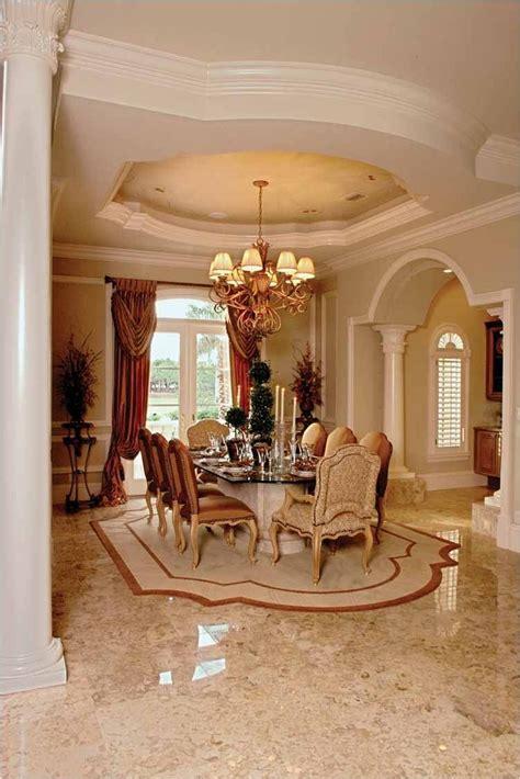 formal dining room beautiful  marble floor  vault