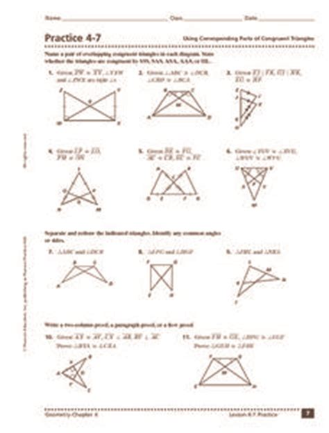 using corresponding parts of congruent triangles 10th