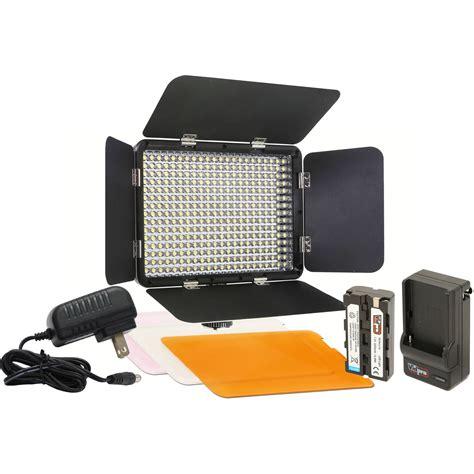 vidpro professional led light vidpro led 330 on camera led video light kit led 330 b h photo