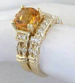 citrine wedding band