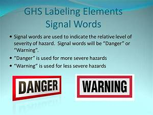 Western environmental and chemical compliance training for Ghs label signal words