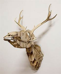 Goldfuss plywood stag head