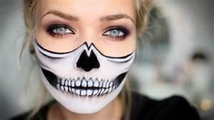 Maquillage Squelette Facile : maquillage halloween horreur en 25 exemples originaux ~ Dode.kayakingforconservation.com Idées de Décoration