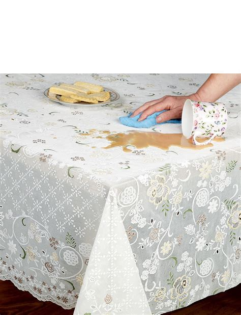 wipe clean table cloth wipe clean lace effect tablecloth home textiles