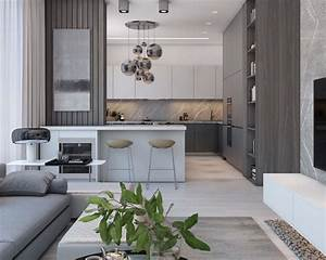 A, Simple, Modern, Apartment, In, Moscow