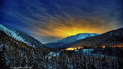 Winter Nights Alaska Wallpapers Nature Northern Lights