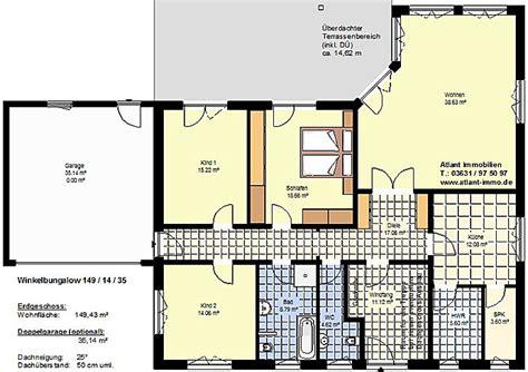 winkelbungalow 149 14 35 mit garage einfamilienhaus neubau massivbau stein auf stein