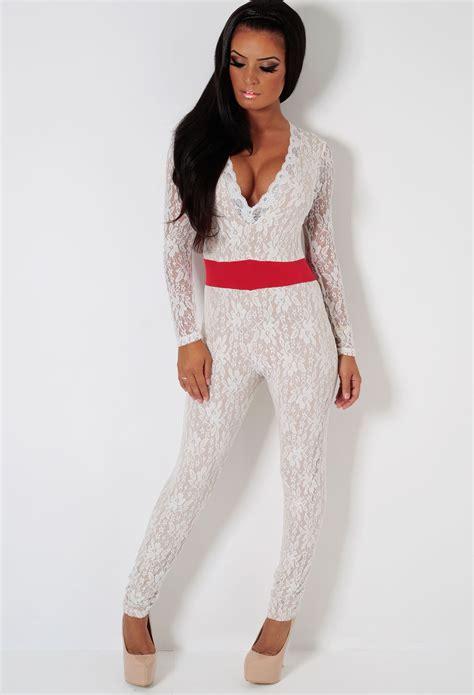 lace jumpsuit white white lace jumpsuit trendy clothes