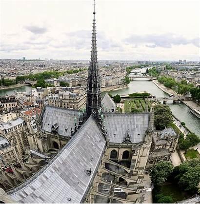 Dame Notre Paris Cathedral Roof Spire Flickr