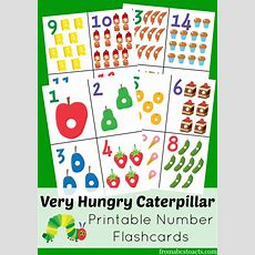 The Very Hungry Caterpillar Printable Number Flashcards