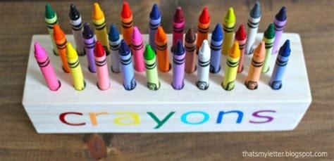 easy scrap wood crayon  pencil block holder ana white