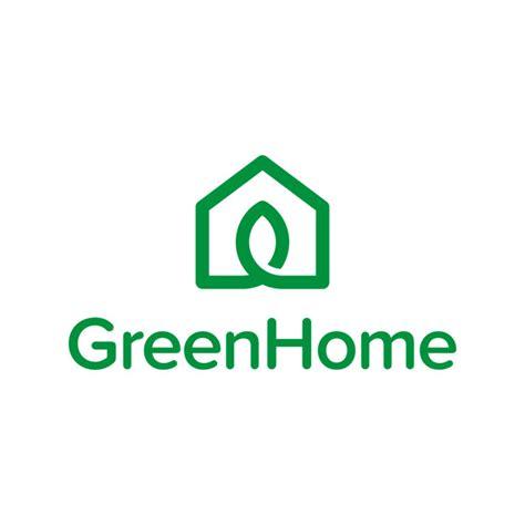 green home logo vector premium