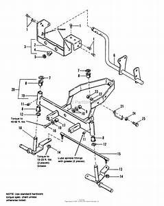 Simplicity 1691298 - 6212 5  12 5hp Gear Tractor Only Parts Diagram For Front Axle Group