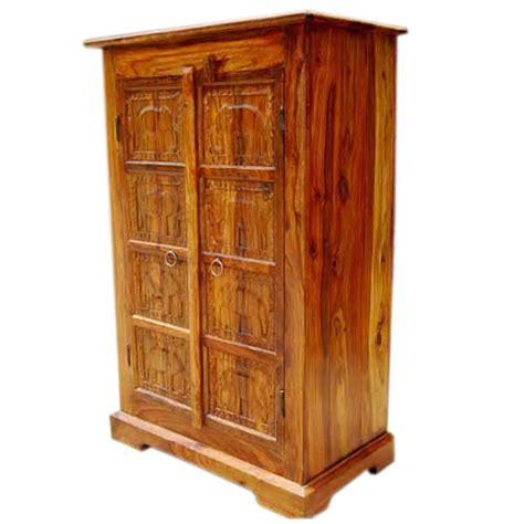 Mendon Solid Wood Handcarved Door Armoire