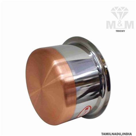 mm copper bottom stainless steel tope flat bottom
