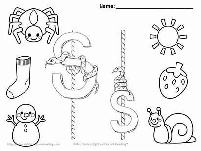 Letter Coloring Pages Sound Sheet Worksheets Preschool