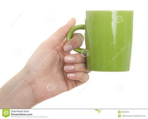 Female Hand Holding Coffee Mug Stock Images   Image: 32034874