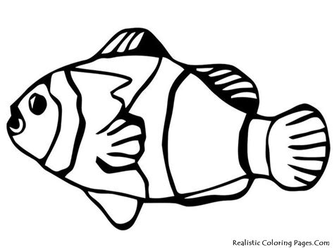 Coloring Fish by Nemo Fish Coloring Pages Realistic Coloring Pages