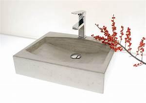 Waschtisch Aus Beton : waschbecken aus beton wunderbar klare form und struktur mehr unter ~ Sanjose-hotels-ca.com Haus und Dekorationen