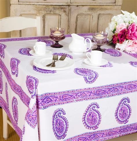 Purple Tablec Linens  Tropical  Dining Tables Other