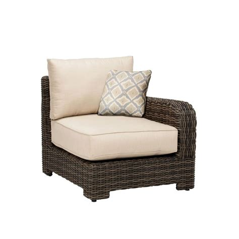 brown northshore right arm patio sectional chair