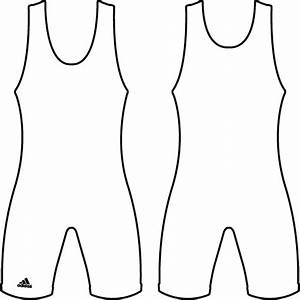 wrestling singlet outline template sketch coloring page With singlet design template